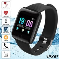 116 plus smart watch cor da tela de toque smart watch pulseira heart rate grande tela de pressão arterial sono para ios sistema android
