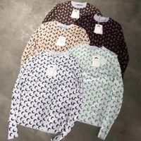2020SS New Marine Serre Camiseta Mulheres Slim Fit Manga Comprida Marine Serre Tee 1: 1 Tag Mew Moon Logo Estique macio t - shirts T200407