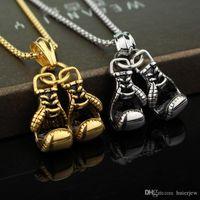 Piuttosto gioielli Mini guantoni da boxe Collana Boxe Match Pendenti Energia Sport Flighting Fitness Gioielli Mens Gold Chains cool collane