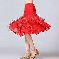 Sahne Giyim Latin Etek Balo Salonu Dans Etekler Kadın Tango Modern Dans Ulusal Standart Waltz Flamenko Yarışması