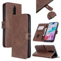 Samsung A10S A20S A51, A71 M30S A20E Kılıf Lüks Kapak çevirin Tutucu Kimlik Kartı Kitap Çanta için LG V50 Stylo 5 G8 Vakaları için Retro PU Deri Cüzdan