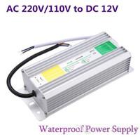 Açık Bahçe Peyzaj Şerit Işık DC 12V LED Güç Kaynağı 50W 60W 80W 100W 150W Trafo Su geçirmez IP67 Sürücü