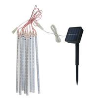 تعمل بالطاقة الشمسية 30CM الصمام النيزك دش المطر أنابيب الصمام سلسلة ضوء لحديقة شجرة حفل زفاف عطلة ديكور