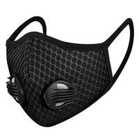 2020 puertos calientes máscara máscaras válvula de respiración de carbono activado a prueba de polvo y el smog 3D filtro de malla transpirable enmascaran al aire libre a prueba de polvo DHL máscara