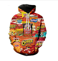Hot Mode Hommes Hoodies Hot Cheetos 3D HD Imprimer Fox Casual Hoodies Couple Sweatshirts Survêtements Femmes Hoodies LM042