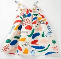 2018 neue Sommer Mädchen Graffiti Sling Kleid Kinder Prinzessin Hosenträger Kleider Kinder Kleidung Baby Mädchen Kleidung Nettes Mädchen Rock 80-120 cm