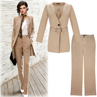 Fashion long section ladies slimming suit business wear two-...