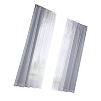 2 Pcs Voile janela Sheer Semi Vestir Cortina Grommet Largura Total 280 centímetros para sala, quarto