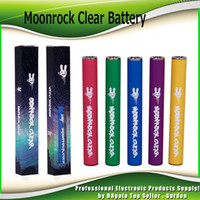 Moonrock Clear Battery Dr.Zodiaks 350mAh PreHeat 10.5mm 510 Bud Touch LED Light Vape penna per Bobby Blue Razzle Dazzle Carts Cartridge