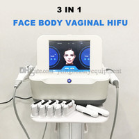 New 3 em 1 HIFU Vaginal aperto Lifting Facial corpo emagrecimento HIFU Máquina de 5 ou 7 Cartuchos Anti Aging Beauty Salon Equipment