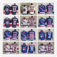 Retro New York Rangers Hockey Winter Klassische Vintage Nähte Jerseys 11 Mark Morgy 35 Mike Richter 2 Brian Leetch Großhandel Hohe Qualität