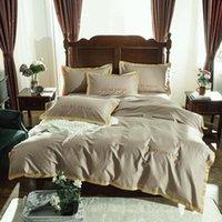 Conjuntos de cama 55 Set Rainha King Size Alto grau Bordado Bed Fit edredon cobrir Spread Sheet