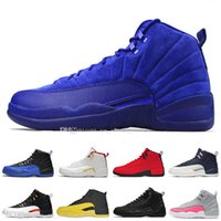 Hot Deep Royal Blue Suede 12 12s Dunkelgrau Herren Basketballschuhe Gamma Blue Bordeaux Reverse Taxi Herren Sport Designer Leichtathletik Turnschuhe