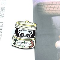 Panda Bun Métal Enamel Broche Mignon Dessin animé Dessinant Badge Badge Pin Chinois Personnage Chinois Costume Costume Sac à dos Bijoux Cadeau