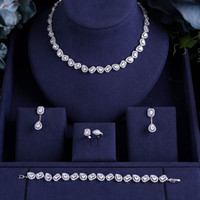 jankelly Nigeria 4pcs Bridal Zirconia Jewelry Sets For Women...