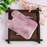 Hot Charms Natürliche Rose Quartz Stein New Körperpflege Scraping Brett SPA-Therapie Gua Sha Massage Anti-Stress-Guasha Brett-Massage-Werkzeug frei