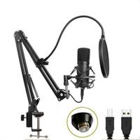 BM700 USB Mikrofon Seti 192kHz / 24BIT Profesyonel Podcast Kondenser Mikrofon PC Karaoke Youtube Studio Recording Mikrofo için