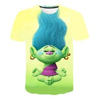 American children's clothing fantasy elf series. Youth printed short-sleeved 3D cartoon T-shirt summer fashion parent-child clothing