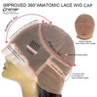 360 фронтальный парик колпачок периметр кружева размер средний размер 4,5 дюйма переднее кружево 10 шт. / компл. высокие Понитальные прически