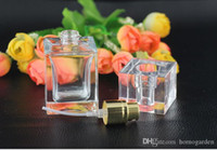 Free DHL 30 ml square flat glass perfume spray bottle, parti...