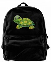Funny sea turtle Canvas Shoulder Backpack Cute Backpack For ...