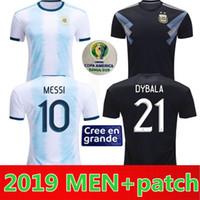 2019 America America Argentina Casa Away Soccer Jersey Messi Dybala di Maria Aguero Higuain Camicia da calcio Home National Team Football Jersey