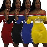 المحبة الملكي إلكتروني اللباس المرأة الصيف فساتين قصيرة الأكمام مائلة الرقبة قطعة واحدة تنورة bodycon شاطئ اللباس الإناث الملابس S-3XL 4 اللون