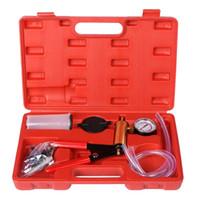 Freeshipping 2 In 1 Bremsflüssigkeit Entlüfter Hand Handvakuumpumpe Tool Kit w / Box