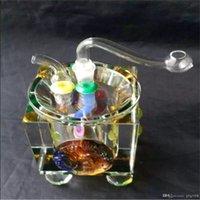 Farbige Kristallglas Zigarette Kessel Bongs Ölbrenner Rohre Wasserpfeifen Kawumm Bohrinseln Raucher Kostenloser Versand