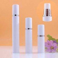 5ml 10ML 15ML Mini White Spray Bottle Argento Adge Airless portatile Vacuum Pump Bottiglia fine della foschia del profumo della bottiglia dello spruzzo del contenitore