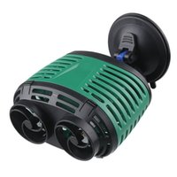 NEW Sunsun Doppelkopf-Fisch-Behälter-Aquarium Wave Maker Wasserumwälzpumpe Flusswavemaker Power Head w / Magnetfuß / Sucker Basis
