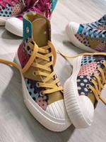 Frauen Freizeitschuhe Damen bunte Schuh Retro-Schuhe Wasser-Beweis-Segeltuch-Schuh-echtes Leder-Turnschuh-Box inklusive beste Geschenk
