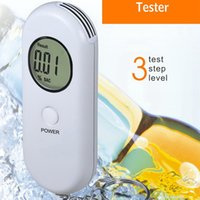 전문 알코올 호흡 테스터 음주 측정기 분석기 검출기 테스트 키 체인 호흡기 장치 LCD 화면