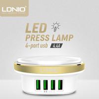 LDNIO A4406 4 USB 포트 데스크톱 홈 충전기 휴대 전화 충전기와 LED 라이트 나이트 라이트를 들어 스마트 폰 화웨이 샤오 미으로 사용할