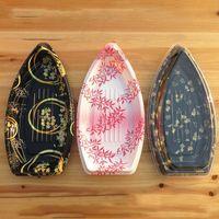 Japanische boot stil klar kunststoff sushi zum mitnehmen box lebensmittel verpackung box geschirr behälter versandkostenfrei qw9082