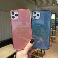 cristal bling paillettes liquide 360 protect Designer Téléphone TPU bord Pc couverture arrière pour iPhone pro max Samsung S10 30 huawei apparier