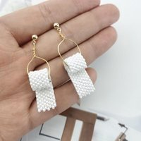 1pair Funny Toilet Paper Drop Earrings Creative Roll Paper T...