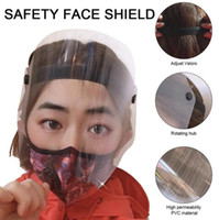 US Ship Protective Face Shield Adult Anti Dust Full Face Mask Visor PET Transparent Windproof Facial Cover Clear Vision Safety Protection