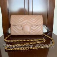 뜨거운 판매 패션 빈티지 어깨 가방 여성 가방 디자이너 여성 가죽 체인 가방 크로스 바디 가방 핸드백 지갑 5 색 21X13X5CM