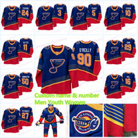 90 Vintage St. Louis Blues Jerseys Ryan O'Reilly Schenn Vladimir Tarasenko Alex Pietrangelo Alexander Steen Colton Parayko Binnington