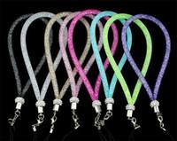 25см Телефон талреп ремешок Высококачественный Rhinestone Bling Рыболовная сеть Рука талреп алмазов цвета конфеты Висячие Веревка телефонов цепи для телефона MP4