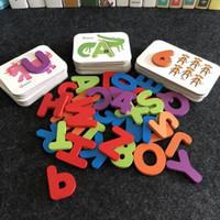 Когнитивная учебные пособия детям Распознать ABC буквы алфавита Matching карты Раннее образование головоломка Matching Card Game игрушки