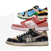 2020 New Travis Scotts Strangelove SB Dunk Low Chaussures de course Raygun Hommes Skateboard Formateurs Femmes Sports Chaussures de sport