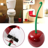 Toilet Bowl Brush Funny Cherry Design Bathroom Cleaning Tool...