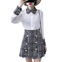 High Quality Dress Set Fashion Elegant Women Tweed Tassels S...