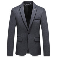 Autumn fashion men' s casual men' s casual suit soli...