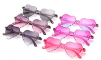 Occhiali da sole per bambini a forma di occhiali da sole per bambini Girls Girls Anti-UV Sunblock RBMUL