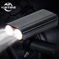 20000 Lumen велосипедов света Встроенный 6000mAh велосипед свет светодиодный фонарь USB аккумуляторная батарея + 2 Handlebar MTB Mount велосипедов