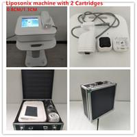 Горячая продажа 0.8CM 1.3CM Body Shape Жир Удаление Портативный LipoSonix машина ультразвуковой похудения система Бесплатная доставка DHL