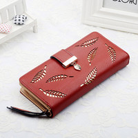 2019 new lady purse hollow leaf simple personality hand bag ...